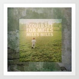 Miles Art Print