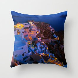 Santorini. Throw Pillow