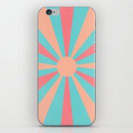pink and peach sunshine iPhone Skin
