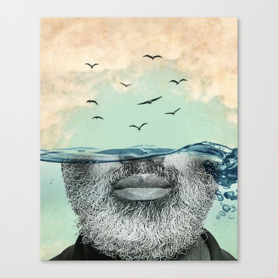Under the water line Canvas Print