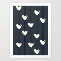 calendars Art Prints featuring Heart  by Shabby Studios Design & Illustrations ..