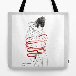 Transparent Hug Tote Bag