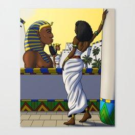 Nefertari Admires Her Capital Canvas Print