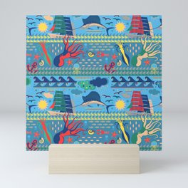 Pop Sea World Mini Art Print