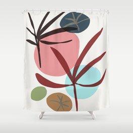zen garden - maple leaf Shower Curtain