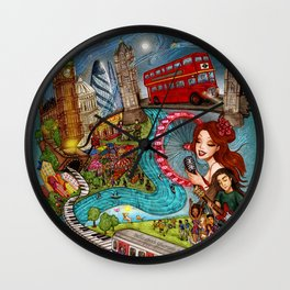 Sounds of London Wall Clock