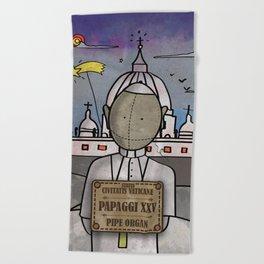 Papaggi XXV from Civitatis Vaticane (Pipe Organ) Beach Towel