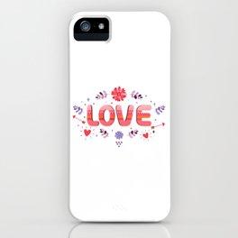 Flora Love Boho Style iPhone Case