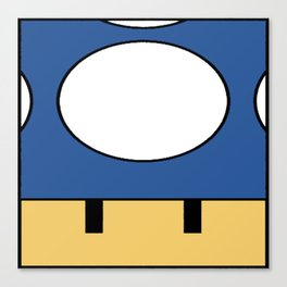 Minimal Toad blue Canvas Print