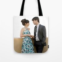 500 days of summer Tote Bags featuring (500) Days of Summer by Derek Donovan