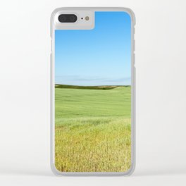 Field with cereal Clear iPhone Case