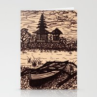 bali Stationery Cards featuring Bali Boating by Erica Putis