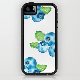 Watercolour Blueberry iPhone Case