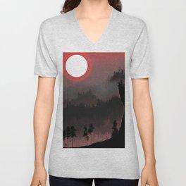 Hunters Moon/Dark Forest Unisex V-Neck
