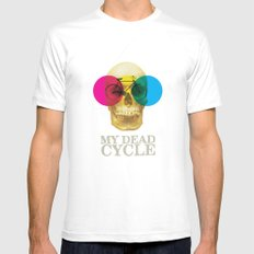 CYCLE Mens Fitted Tee White MEDIUM