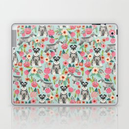 Schnauzer floral must have dog breed gifts for schnauzers owners florals Laptop & iPad Skin