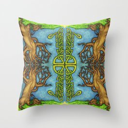 Trees & Knots Throw Pillow