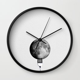 Moon and fork Wall Clock