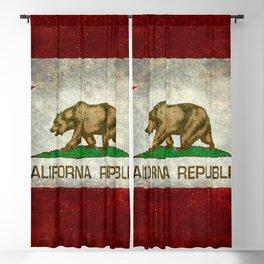 California Republic state flag Vintage Blackout Curtain