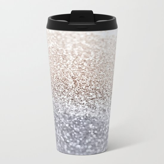 SILVER Metal Travel Mug