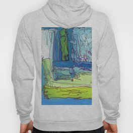 Mood Chart Blue Abstract Ocean Painting Hoody