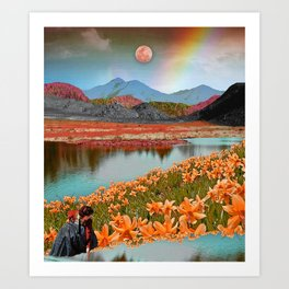 Rainbow gardens Art Print