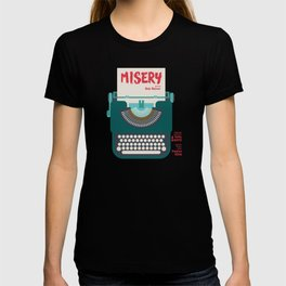 Misery, Horror, Movie Illustration, Stephen King, Kathy Bates, Rob Reiner, Classic book, cover T-shirt