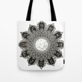 Astrology Signs Mandala Tote Bag
