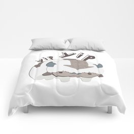 let's go! yip yip Comforters