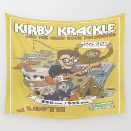 Kirby Krackle and The Nerd Rock Orchestra Print Wall Tapestry