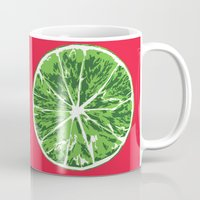 lime Mugs featuring Lime by Kcin