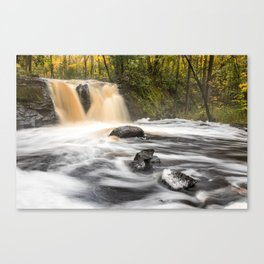 Root Beer Falls in the Upper Peninsula of Michigan Canvas Print