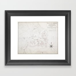 Vintage Map of New Bern NC (1769) Framed Art Print