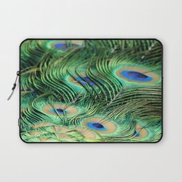Feather Me Blue & Green (Peacock Feathers) Laptop Sleeve