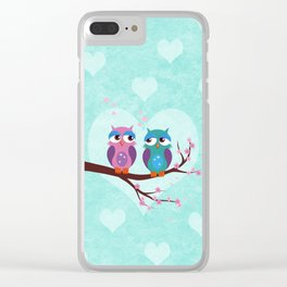 Love owls Clear iPhone Case