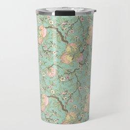 Peaches and Blossoms Travel Mug