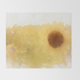 Sun ripened petals Throw Blanket