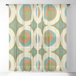 Mid-Century Modern funk 2 Sheer Curtain