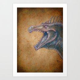 Medieval monster XVI Art Print