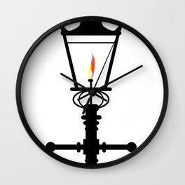 Victorian Isolated Gaslight Wall Clock
