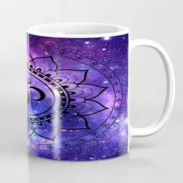 Om Mandala: Purple Blue Galaxy Coffee Mug