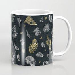 Sea shells pattern gold and silver Coffee Mug