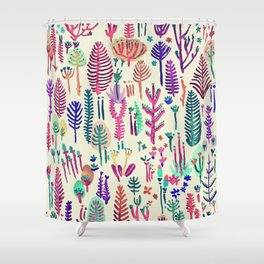 poison flowers Shower Curtain