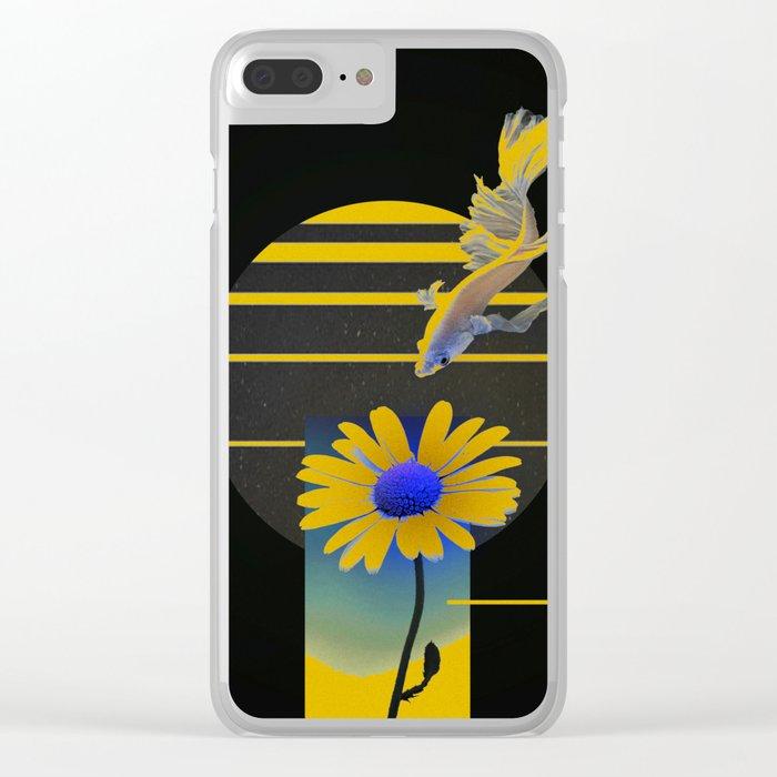 Dark Moon Clear iPhone Case