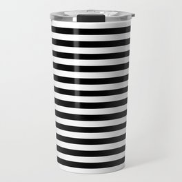 Black and White Stripes Travel Mug