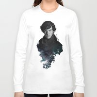 portrait Long Sleeve T-shirts featuring The Excellent Mind by Artgerm™