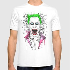 joker White Mens Fitted Tee MEDIUM