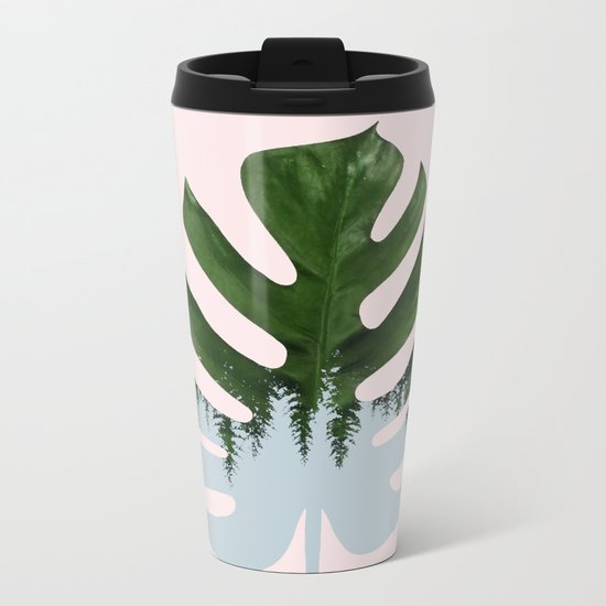 Monstera #society6 #decor #buyart Metal Travel Mug