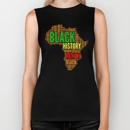 Black History Month Typography Biker Tank