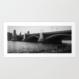 Longfellow Bridge. Cambridge, MA - March, 2020 Art Print